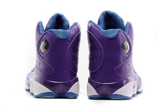 "Womens Air Jordan 13 ""Violet"" Shoes Purple/blue white"