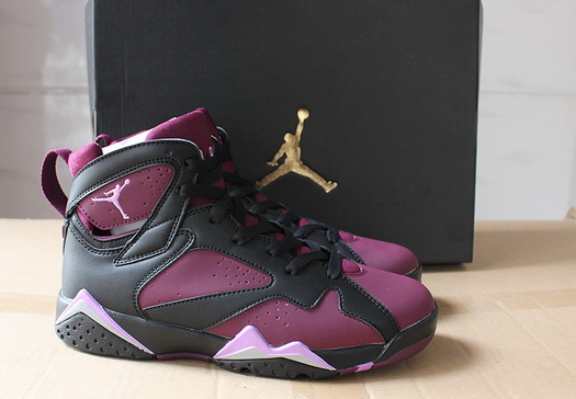 "Womens Air Jordan 7 ""Strawberry"" Shoes Purple/black pink"