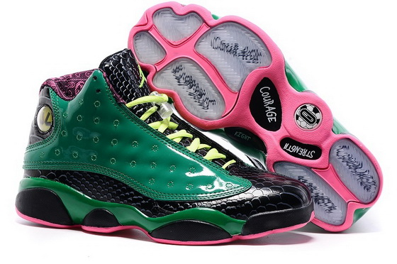"Womens Air Jordan 13 ""doernbecher"" Shoes Green/black pink"