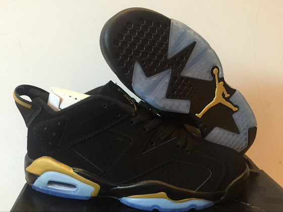Women's Air Jordan 6 Low Shoes Black/gold