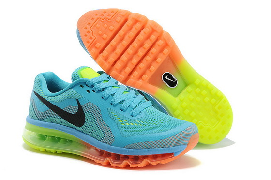 Women's Air Max 2014 Shoes Blue/black orange