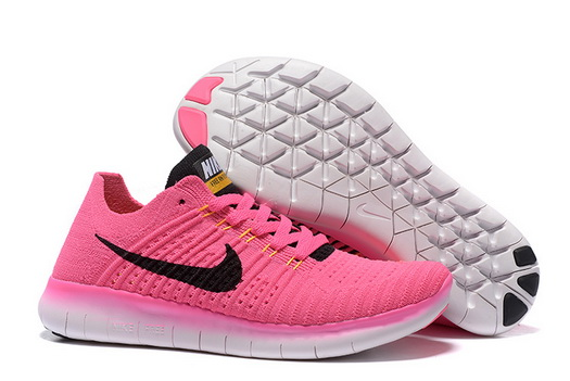 Women's Free Flyknit 5 Shoes Pink/black