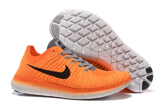 Women's Free Flyknit 5 Shoes Orange/black