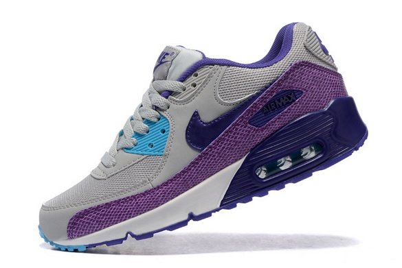 Women's Air Max 90 Shoes Gray/purple blue
