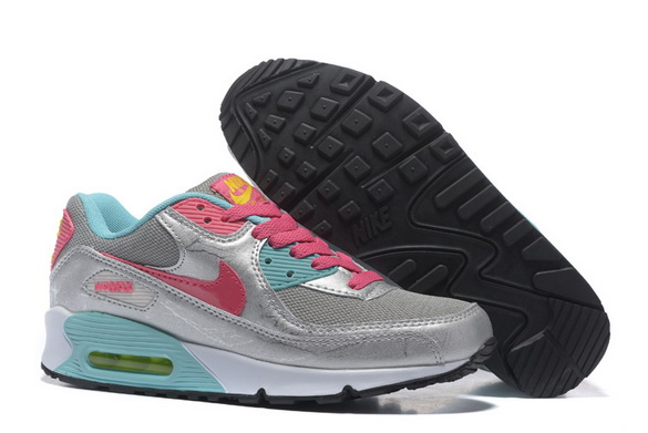 Women's Air Max 90 Shoes Silver/pink blue
