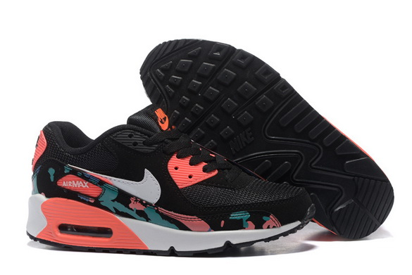 Women's Air Max 90 Shoes Black/red blue - Click Image to Close