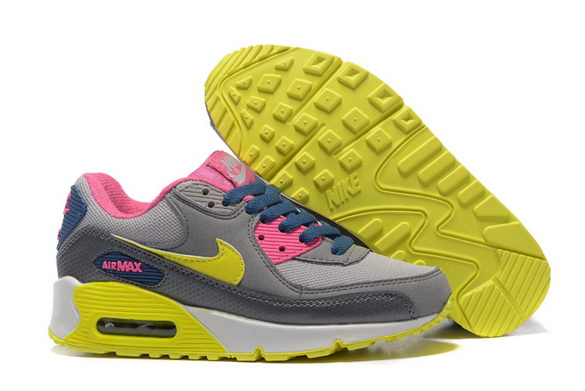 Women's Air Max 90 Shoes Gray/pink green