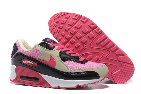 Women's Air Max 90 Shoes Pink/black gray