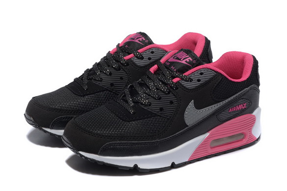 Women's Air Max 90 Shoes Black/pink white