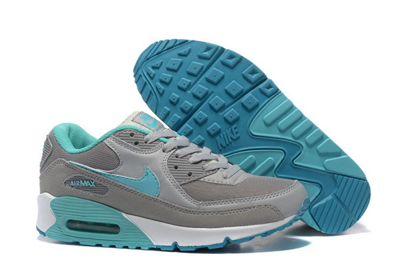 Women's Air Max 90 Shoes Grey/blue white