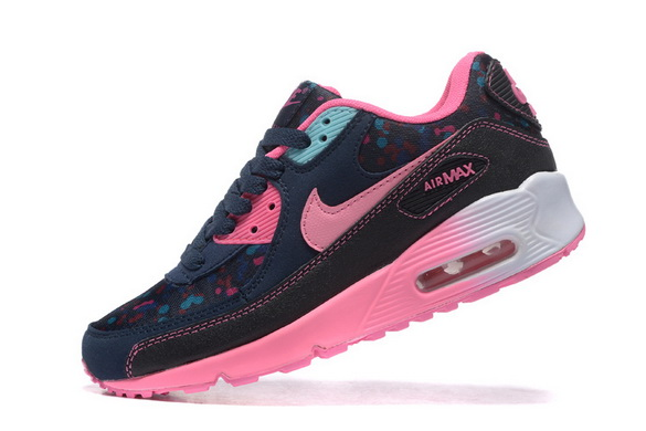Women's Air Max 90 Shoes Black/pink