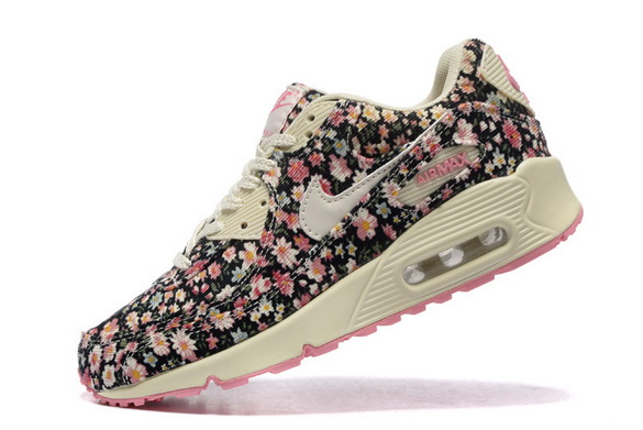 Women's Air Max 90 Shoes Flower/white pink