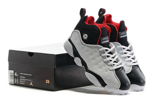 "Air Jordan ""TEAM 2"" GS Shoes White/Black red"