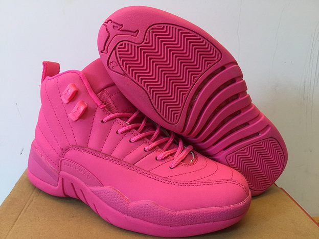 Womens Air Jordan 12 Retro Shoes Pink All