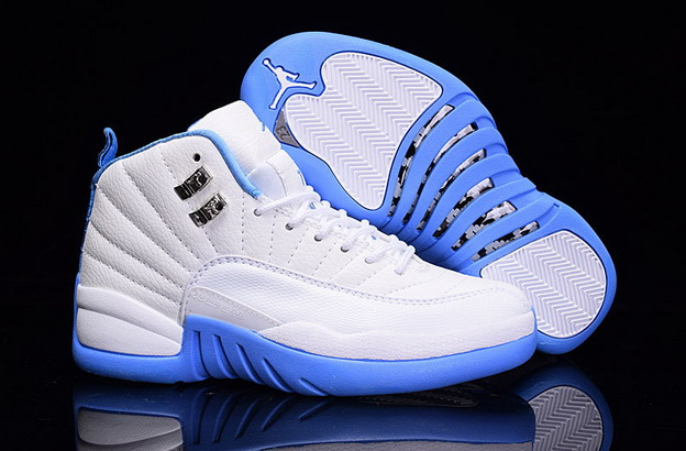 Womens Jordan 12 Retro Shoes Light blue/White