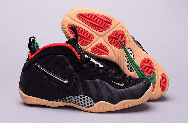 "Air Foamposite pro ""Gorge green"" Women Girl Shoes Black/Red Green"
