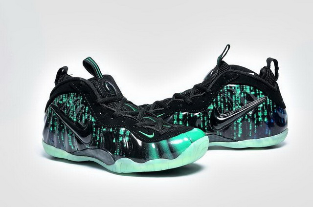 Womens Air Foamposite Pro Shoes Green/black