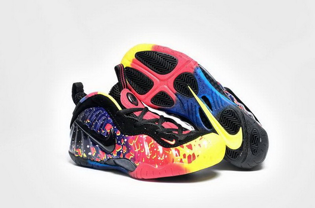"Womens Air Foamposite Pro ""Asteroid"" Shoes Fire red/blue black"
