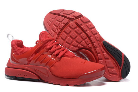 Womens Air Presto BR Shoes Fire Red/Black - Click Image to Close