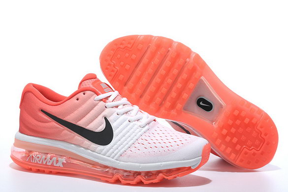 Womens Air Max 2017 Running Shoes Strawberry red/white black