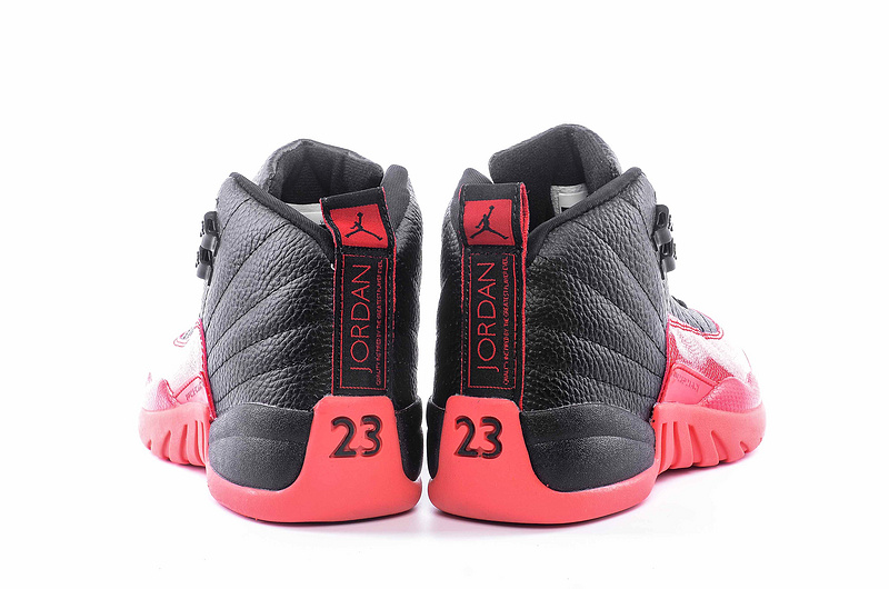 "Womens Air Jordan 12 ""Flu Game 2016"" Shoes Black/Red"
