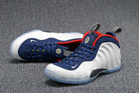 "Womens Air Foamposite One ""Olympic Now"" Shoes White/blue red black"