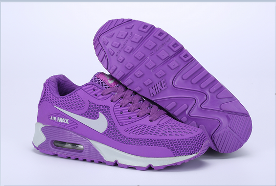 Women's Air Max 90 Shoes Purple/white
