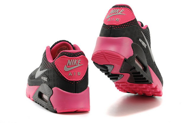 Women's Air Max 90 Shoes Black/pink grey