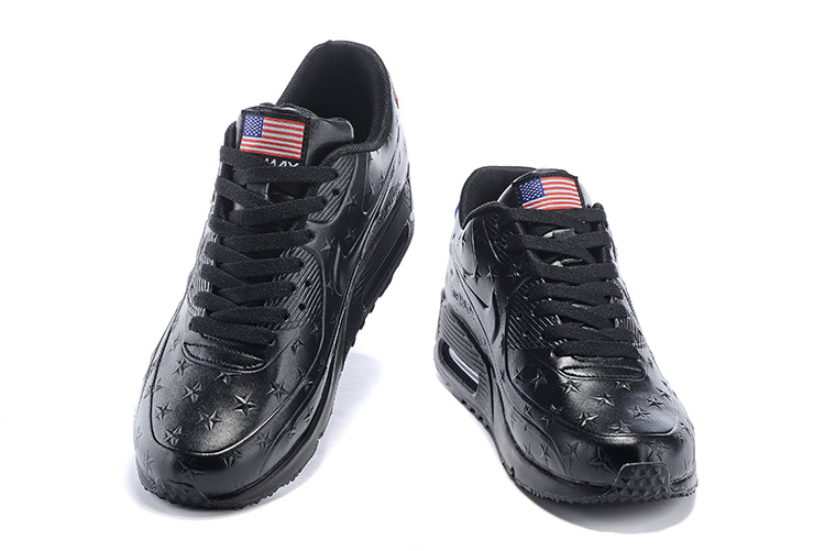 "Women Air Max 90 Hyp ""Independence Day"" Shoes Black"