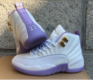 Womens Air Jordan 12 Retro Shoes White/purple