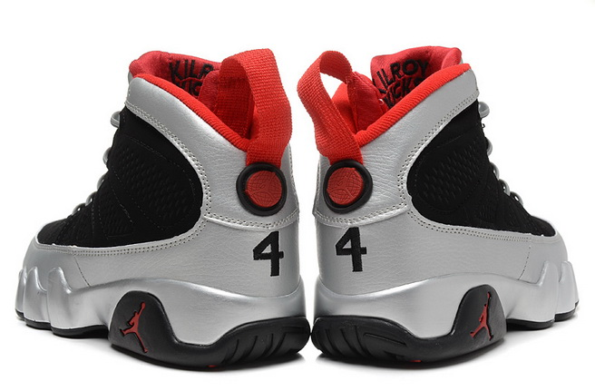 Air Jordan 9 johnny kilroy Shoes Black/Silver