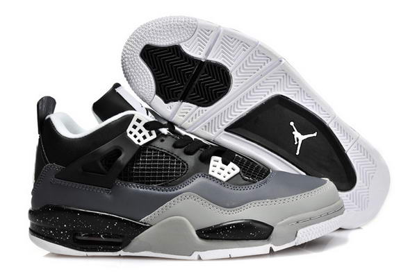 Air Jordan 4 New Shoes Black/Light gray