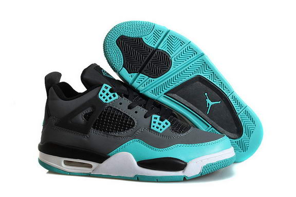 Air Jordan 4 Retro TIFFANY Shoes Blue/black white