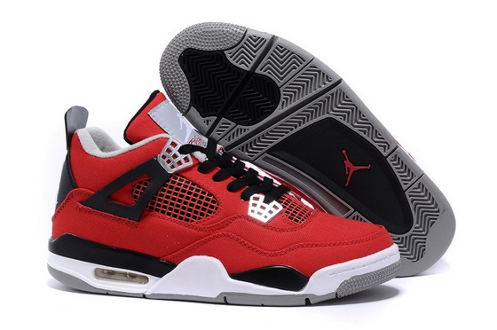 "Air Jordan 4 ""Canvas"" Shoes Red/black white"