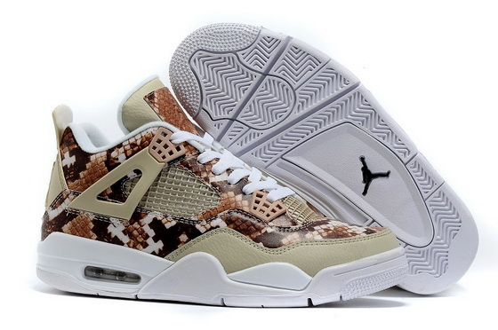 "Air Jordan 4 ""Snakeskin"" Shoes Brown/white"