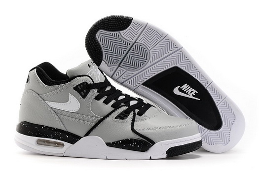 Men's Air Flight 89 Shoes Gray/white black