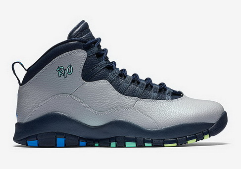 "Air Jordan 10 ""Rio"" Shoes Grey/Blue"