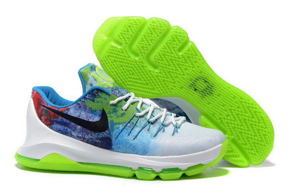 "KD 8 ""N7"" Glows In The Dark Shoes White/green black blue red"