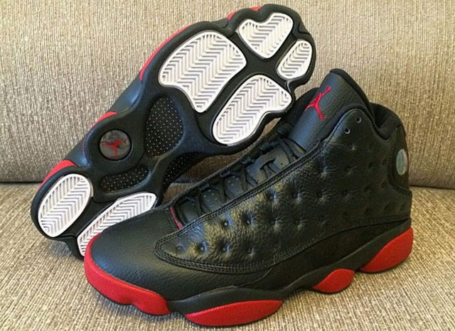 WMNS Air Jordan 13 dirty bred Shoes Black/red