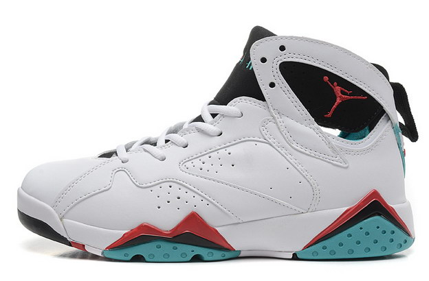 WMNS Air Jordan 7 GS Shoes Verde White/blue black red